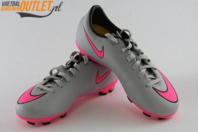 Nike Mercurial Veloce grijs roze voor- en zijkant(651618-060)