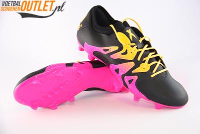Adidas X 15.2 zwart roze voor- en onderkant (s74674)