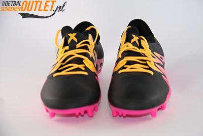 Adidas X 15.2 zwart roze voorkant (s74674)