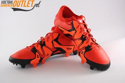Adidas X15.2 rood zwart voor- en zijkant (S83195)