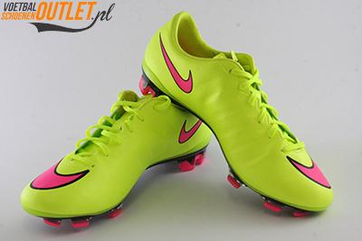 Nike Mercurial Veloce geel voor- en zijkant (651618-760)