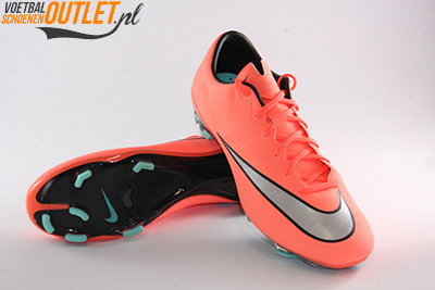 Nike Mercurial Veloce zalm oranje voor- en onderkant (651618-803)
