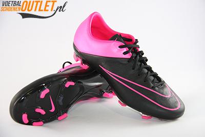 Nike Mercurial Veloce zwart roze voor- en onderkant (768808-006)