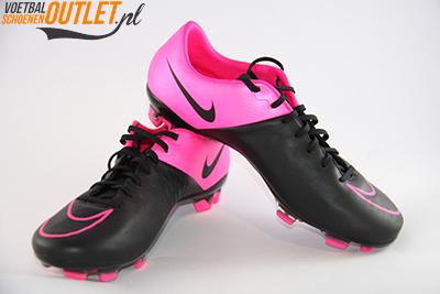 Nike Mercurial Veloce zwart roze voor- en zijkant (768808-006)