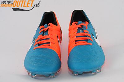 Nike Tiempo Legend blauw oranje voorkant (631518-418)