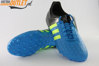 Adidas Ace 15.3 blauw zwart voor- en onderkant (B32848)