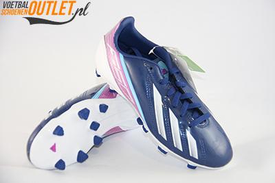 Adidas Adizero F10 blauw paars kids voor- en onderkant (G65354)