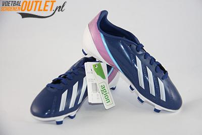 Adidas Adizero F10 blauw paars kids voor- en zijkant (G65354)