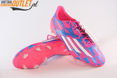 Adidas Adizero F10 blauw roze voor- en onderkant (M17604)