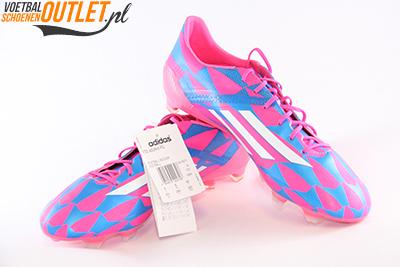 Adidas Adizero F10 blauw roze voor- en zijkant (M17604)