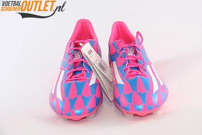 Adidas Adizero F10 blauw roze voorkant (M17604)