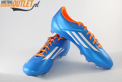 Adidas Adizero F10 blauw voor- en zijkant (D67146)