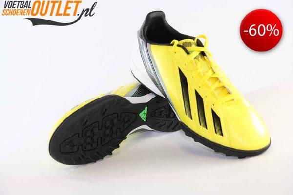 Adidas Adizero F10 geel kids (TF) voor- en onderkant (G65375)