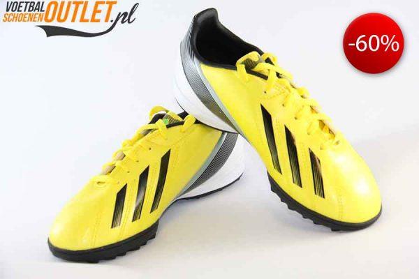 Adidas Adizero F10 geel kids (TF) voor- en zijkant (G65375)