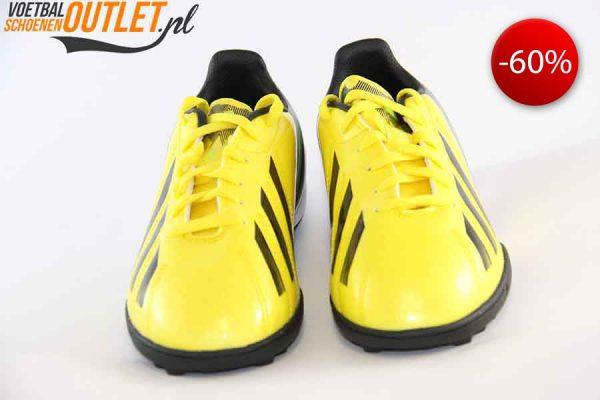 Adidas Adizero F10 geel kids (TF) voorkant (G65375)