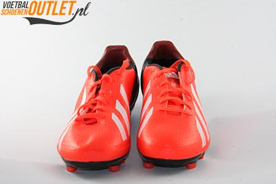 Adidas Adizero F10 rood zwart kids voorkant (Q33868)