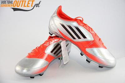 Adidas Adizero F30 zilver oranje kids voor- en zijkant (V21355)