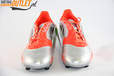 Adidas Adizero F30 zilver oranje kids voorkant (V21355)