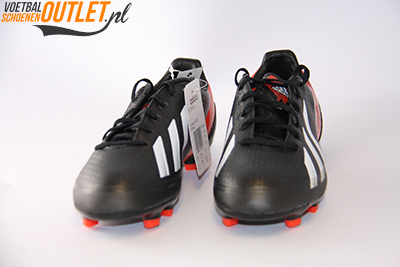 Adidas Adizero F30 zwart wit rood kids voorkant (Q33896)
