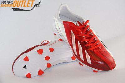 Adidas Adizero wit rood kids voor- en onderkant (G65393)