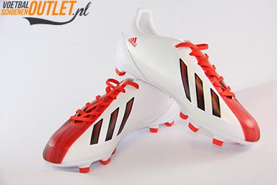 Adidas Adizero wit rood kids voor- en zijkant (G65393)
