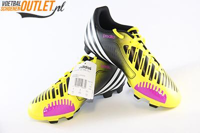 Adidas Predator Predito geel zwart kids voor- en zijkant (G65116)