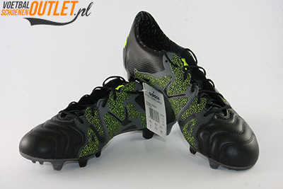 Adidas X 15.1 zwart grijs voor- en zijkant (B26978)