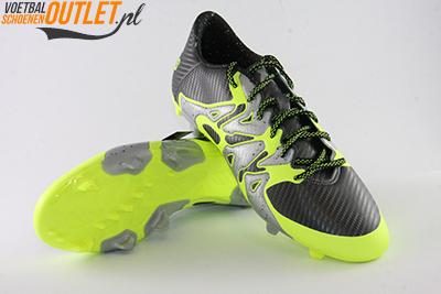 Adidas X 15.1 zwart zilver geel voor- en onderkant (S75238)