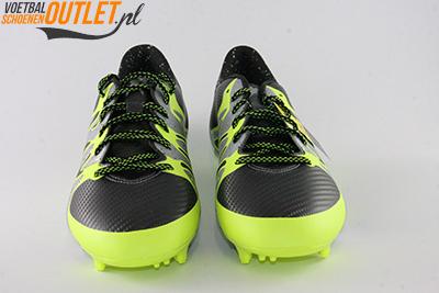 Adidas X 15.1 zwart zilver geel voorkant (S75238)