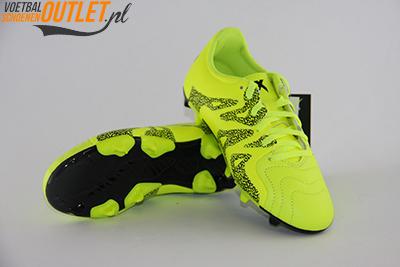 Adidas X 15.3 geel kids voor- en onderkant (B26968)