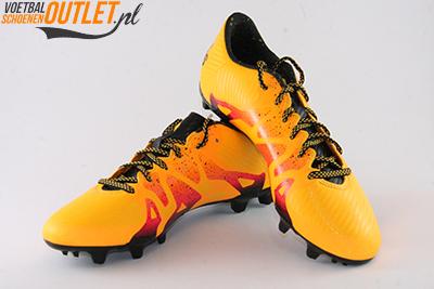 Adidas X 15.3 oranje roze voor- en zijkant (S74632)