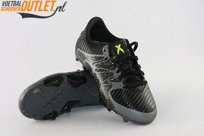 Adidas X 15.3 zwart kids voor- en onderkant (B26998)