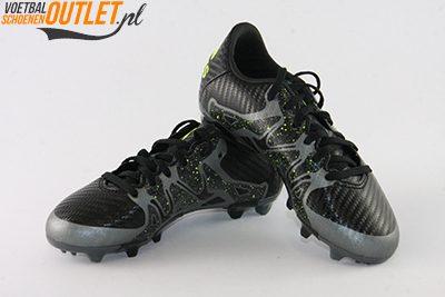 Adidas X 15.3 zwart kids voor- en zijkant (B26998)