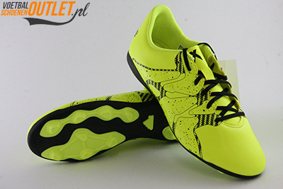 Adidas X 15.4 geel kids voor- en onderkant (B32788)