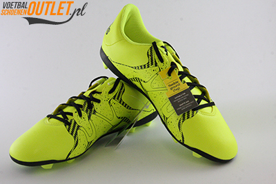 Adidas X 15.4 geel kids voor- en zijkant (B32788)