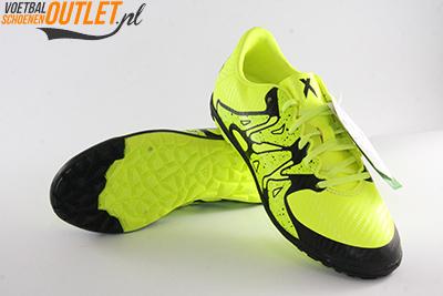 Adidas X15.3 geel zwart kids (TF) voor- en onderkant (B32974)