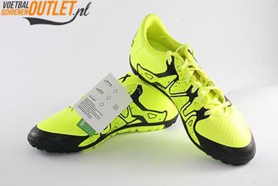 Adidas X15.3 geel zwart kids (TF) voor- en zijkant (B32974)