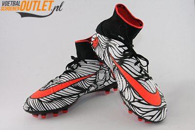 Nike Hypervenom Phantom Neymar wit zwart met sok