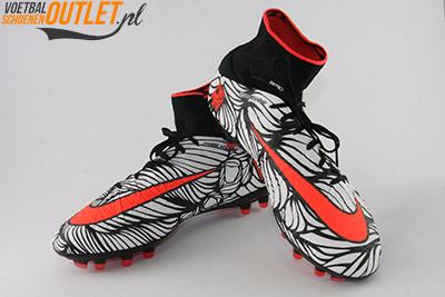 Nike Hypervenom Phantom Neymar wit zwart met sok voor- en zijkant (820117-061)