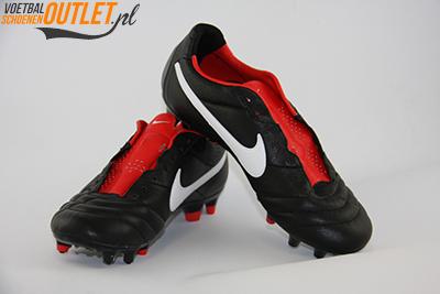 Nike Tiempo Legend zwart rood voor- en zijkant (454316-010)