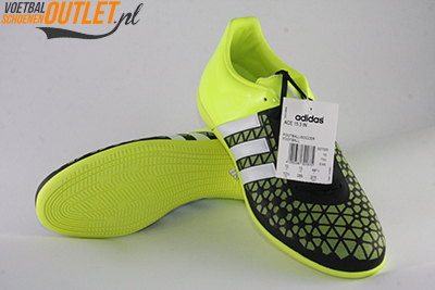 Adidas Ace 15.3 zaal zwart geel voor- en onderkant (B27025)