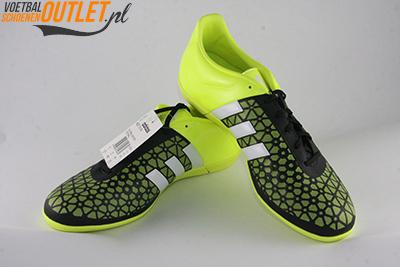 Adidas Ace 15.3 zaal zwart geel voor- en zijkant (B27025)
