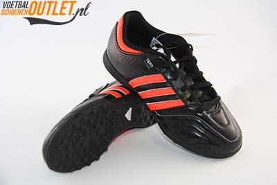 Adidas Adipure 11Questra zwart rood kids (TF) kunstgrasschoen voor- en onderkant (G61572)