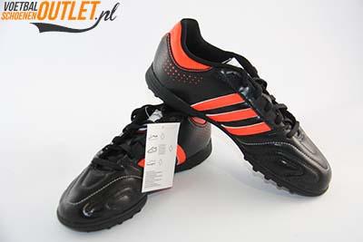 Adidas Adipure 11Questra zwart rood kids (TF) kunstgrasschoen voor- en zijkant (G61572)