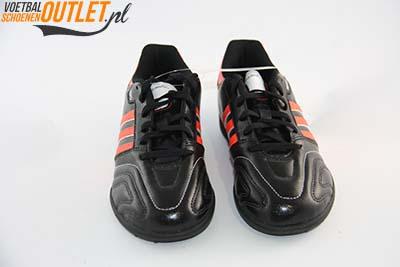 Adidas Adipure 11Questra zwart rood kids (TF) kunstgrasschoen voorkant (G61572)