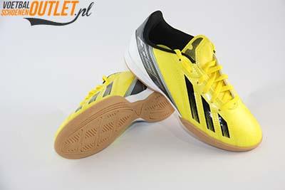 Adidas Adizero F10 geel kids (IC) zaalschoen voor- en onderkant (G65333)