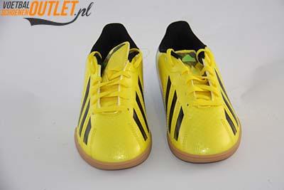 Adidas Adizero F10 geel kids (IC) zaalschoen voorkant (G65333)