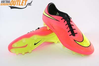 Nike Hypervenom Phatal rood geel voor- en onderkant (599075-690)