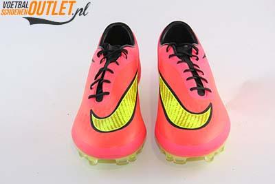 Nike Hypervenom Phatal rood geel voorkant (599075-690)