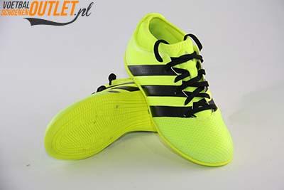 Adidas Ace 16.3 geel kids (IC) voor- en onderkant (AQ3425)
